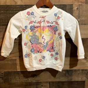 ❤️3/$20 Vtg Tea Party Floral Heart Bow Sweatshirt